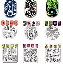 Born Pretty Nail Art Stamping Plates Flower Image Manicure Stencil Stamp Decor