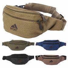 65ba4f5ae Bolsas de hombre cintura durable paquete de la Cintura Cinturón Bolsa De  Lona De Cadera Bum tres bolsillos de cremallera