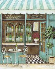 Tava Studios: Vino Keilrahmen-Bild Leinwand Wein-Laden Vintage Shabby Nostalgie