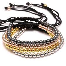 Men's Luxury Micro Pave CZ Evil Eye & 8mm Disco Ball Braided Macrame Bracelets