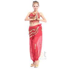 Belly dance Danse Costume set Elegante trousers Pant & Bead Bell Bra Top & belt