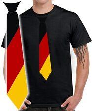 DEUTSCHLAND T-Shirt Fussball WM KRAWATTE Fun Fan Trikot Germany Fahne Flagge