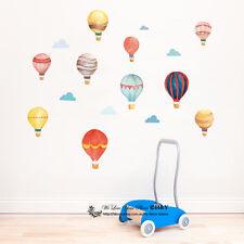 Watercolour Hot Air Balloon Cloud Removable Kids Wall Decal Vinyl Stickers Decor
