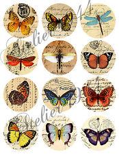 "Aufkleber-Möbeltattoo-transparent-Sticker-Shabby-Vintage ""Butterfly Buttons"""