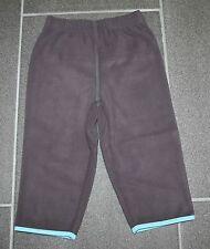 Wohlfühlhose Jogginghose Fleece braun mit türkis in Gr. 80 oder 86 von H&M