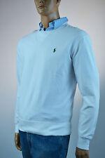 Ralph Lauren White Mesh Crewneck Cotton Mesh Pullover Sweater /Green Pony-NWT