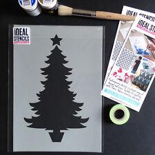 Christmas Shop Display Window Stencils Tree Craft Art Painting Reusable Sizes