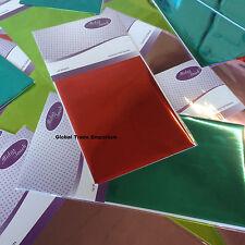 Midas Touch TRANSFER FOIL - 20 Sheets Per Pack - Choose Colours - Cold Foil Use