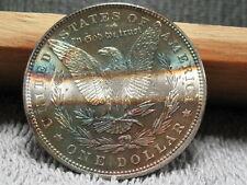 1887 MORGAN-NICE CHOICE TO GEM SPECIMAN W/ REVERSE SPLIT TONES--FREE SHIPPING