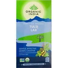 ORGANIC INDIA Tulsi Lax 25 Tea Bag -Gentle, Effective and Herbal Laxative -New
