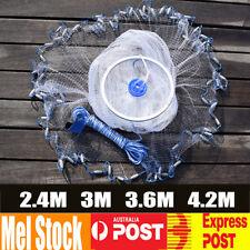 2.4M 3M 3.6M 4.2M Trap Hand Throw Fishing Mesh Chain Spread Bottom Bait Cast Net