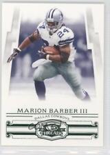 2007 Donruss Threads Century Proof Green #76 Marion Barber Iii Dallas Cowboys