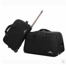 "Unisex Travel Trolley Case 20"" 24"" Large Luggage On Wheels Rolling Baggage"