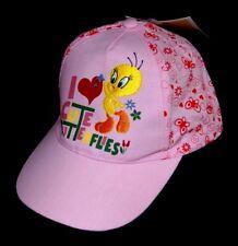 CHAPEAU CASQUETTE ETE FILLE BEBE 50 52 cm TITI  TWEETY ROSE NEUF I LOVE CUTE ...