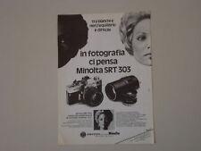 advertising Pubblicità 1974 MINOLTA SRT 303