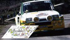 Calcas Renault 5 Turbo Rallye des Garrigues 1986 20  decals Touren