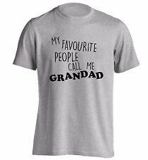 My favourite people call me grandad t-shirt grandchild family grandma love  393