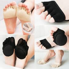 Women Girl Non Slip High Heel Sandal Invisible Half Footie Open Toe Yoga Socks