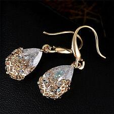 Las mujeres circón cristal de diamantes de imitación colgar pendientes joyasSE