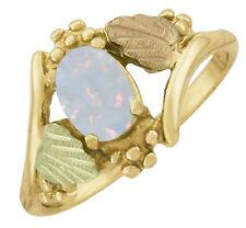 Dakota Black Hills Gold 7 X 5 mm Lab White Opal Ring #KRL 685 Select Your Size