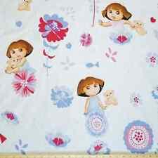Dora the Explorer Flowers Large Print 100% Cotton Fabric 140cm Wide