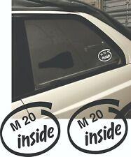 M20 Inside sticker BMW E30 E28 E34 M20B20 M20B23 M20B25 All e30 M tech M technic