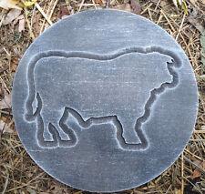 Bull cow plaque plastic garden casting plaque mold mould