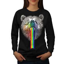 Rainbow Bear Head Women Sweatshirt NEW | Wellcoda