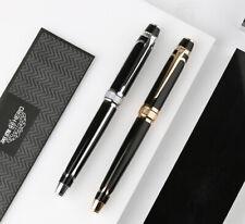 HERO 100 14K Gold Nib Fountain Pen with Gift Box, Fully Metal Silver/Golden Clip