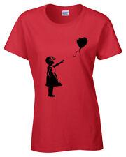 BANKSY Fille avec Ballon pour femme T Shirt Tee Street Art Graffiti Hipster Femme