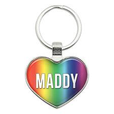 Metal Keychain Key Chain Ring Rainbow I Love Heart Names Female M Mabe