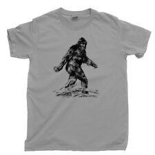 Bigfoot T Shirt I Want To Believe Yeti Sasquatch Sightings Hiking Camping Tee