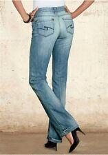 CROSS Vaqueros ANGELINA NUEVO pantalón azul usado w26-w31/L34 Mujer Light Stone