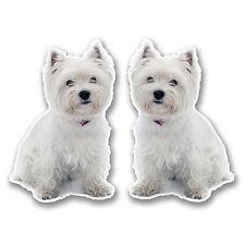 2 x 10cm West Highland Terrier Vinyl Stickers Decals Laptop Car Westie Dog #6292