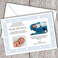 Personalizadas Foto Invitaciones • Bautizo ~ Bautismo ~ Nombres día • Boy (estrella)