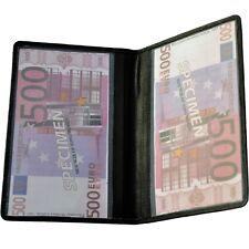 große Brieftasche für alten Führerschein Behindertenausweis Rindleder Geldtasche