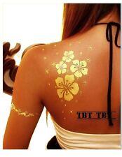 Metallic Tatuaggio Temporaneo Flash Tattoo mod.24 bracciale ORO ARGENTO BLU