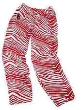 Arizona Cardinals ZUBAZ Red White Vintage Zebra Embroidered Logo Pants