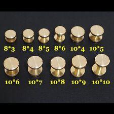 20 X Brass Binding Screw Chicago Nail Stud Rivet Interscrew Bag Belt Shoe Gold