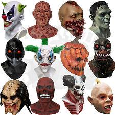 Latex Halloween Skull Zombies Mutant Alien Psychic Evil Clown Horror Props Masks