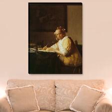 """WANDKINGS Leinwandbild Jan Vermeer - """"junges Briefe schreibendes Mädchen"""""""