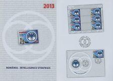 Rumänien 2013 Geheimdienst,Emblem,Schachfiguren Mi.6761,Zf. x3,KB,FDC