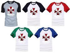 Resident Evil Biohazard Umbrella Corporation Symbol T-shirt Men Shirt Top Blouse