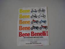 advertising Pubblicità 1979 BENELLI 125/254/354/900 SEI