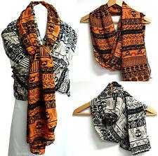 New women's scarf scarves shawl wrap chiffon skull print fashion winter
