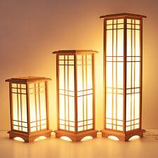 Japanese Style Floor Lamp Washitsu Tatami Decor Window Pane Shoji Lamp Wood Lamp