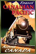 CANADIAN PACIFIC Railroad New Retro Streamline Train Travel Poster Art Print 126