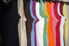 Ex New Look Ladies Super Soft Stretch 100% Cotton Vest Top Size Uk 8-20