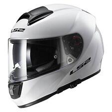 LS2 FF397 FT2 DVS Full Face Motorbike Motorcycle Helmet Single Mono Gloss White