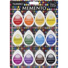 TSUKINEKO-Memento Dew Drop Ink Pads 12/Pk: Gum Drops, Sorbet Scoops, Snow Cones
